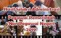 Hasil Seleksi Administrasi Pegawai Pemerintah Non Pegawai Negeri (PPNPN)